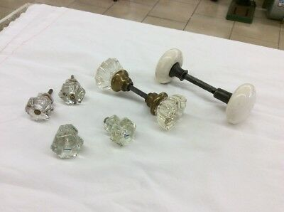 Lot of Antique, Vintage, Glass Cabinet / Drawer Knobs & Door Knobs