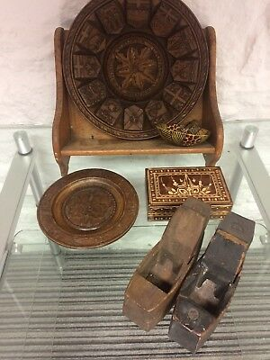 Wooden Old Items Plane Box Book Shelf Plate