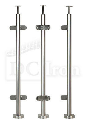 Stainless Steel Handrail Balustrade Ready Made Post Kit Satin Indoor & Outdoor
