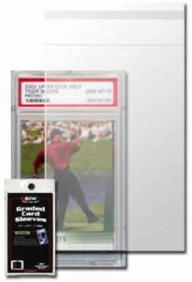 Pack of 100 BCW Resealable Graded Baseball Trading Card Poly Sleeves bags
