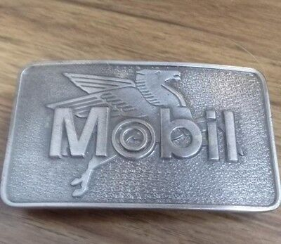 Vintage Mobil Oil Gas Flying Pegasus Limited Edition Brass Belt Buckle Chicago