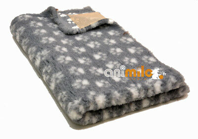 Tapis Confortbed Vetbed Dry Extra gris petites pattes blanches 26 mm 75x100