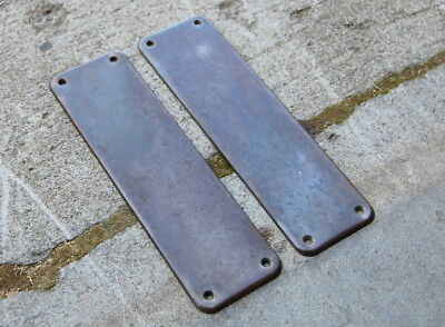 Original Antique Stamped Metal Door Push Plate, Vintage Door Hardware