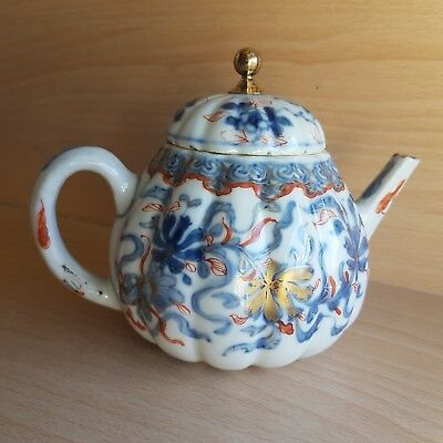 5# Old Rare Antique Beautiful Chinese Japan Porcelain Imari Teapot Hand Painted