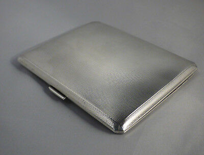 SOLID SILVER ~ VINTAGE CIGARETTE/CARD CASE  FULLY HALLMARKED for LONDON 1937
