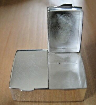 Chunky Hallmarked Sterling Silver Double Snuff Box Vinaigrette / Stamps Pills ?