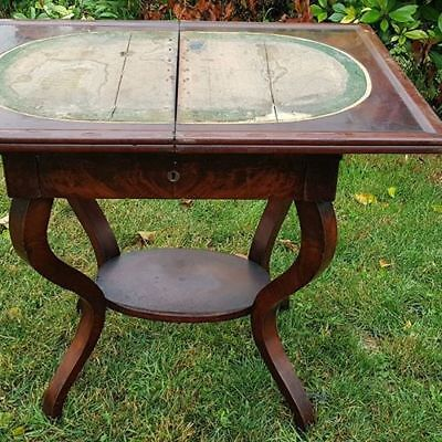 Unique Biedermeier Table Circa 1850 - Wooden Curved Table For Games- Antique