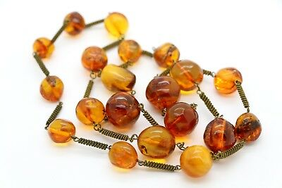 Amber Antique Natural Baltic Egg Yolk Butterscotch Amber Necklace