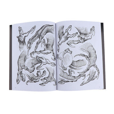 Tattoo Dragon Claw Design Sketch Flash Book References 190 Sheets Body Art