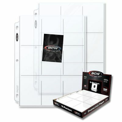 New 20 PK- 9 Pocket Pages BCW PRO Binder Cards / Coupon Sleeves Ultra Protection