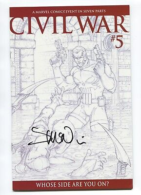 2006 MARVEL CIVIL WAR 5 MICHAEL TURNER 1:75 SKETCH VARIANT McNIVEN SIGNED NM- D3