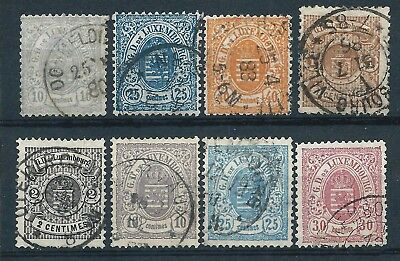 Luxembourg 1876-80 Selection of Small (stamps 1-3) & Large Margins Used CV £87