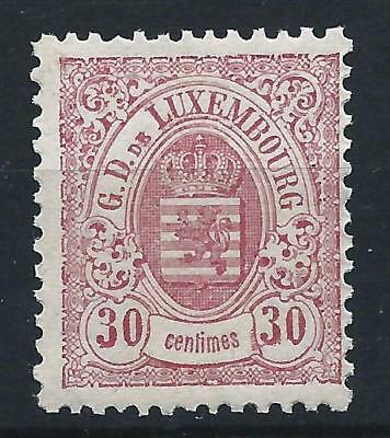 Luxembourg 1880 30c Rose Large Margins Mint Never Hinged