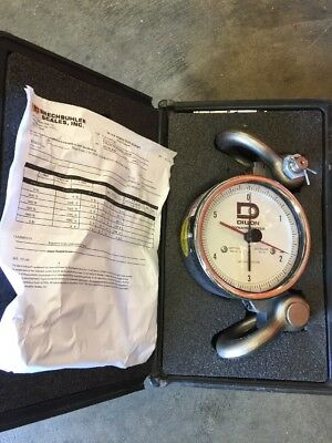 "DILLON / Dynamometer / 6"" OD Dial / 6,000 LB CapX 50 LB Divisions, Calibrated"