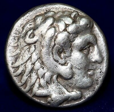 MACEDONIAN KINGDOM Alexander III The Great 336–323 BC. Silver Tetradrachm. VF