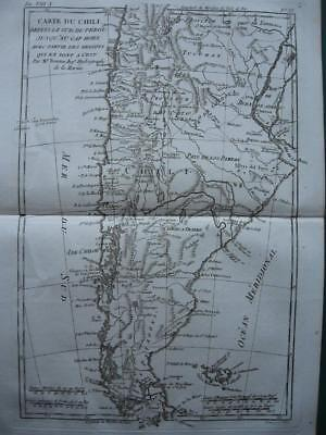 1780s - BONNE - Map CHILE  ARGENTINA  PATAGONIA  LAND OF FIRE