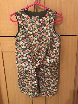 Next Girls Tie Knot Floral Playsuit Age 3 Years Excellent Condition