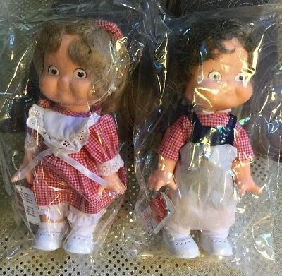 Vintage Campbells Soup 1988 Special Edition Boy and Girl Campbell Kid Dolls