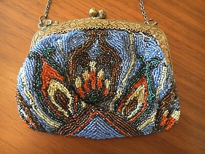 Vintage BEADED PURSE — Vibrant Colors & Very Charming!