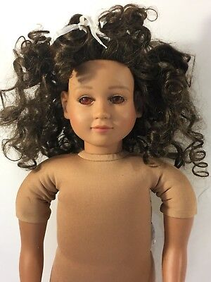 "My Twinn Doll 23"" 2007 Dark Curly Hair Posable Doll"