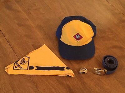 Cub Scout Wolf Hat Neckerchief Slide And Belt