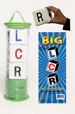The Original Big Lcr® Left Center Right™ Dice Game - Zip Bag (Green)