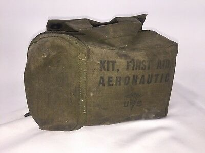 Ww Ii Us Army Air Force Aeronautic First Aid Kit Vintage With Contents