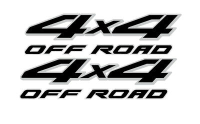 2 NISSAN FRONTIER 4x4 Off Road Decals Silver Black Graphic Sticker bed truck