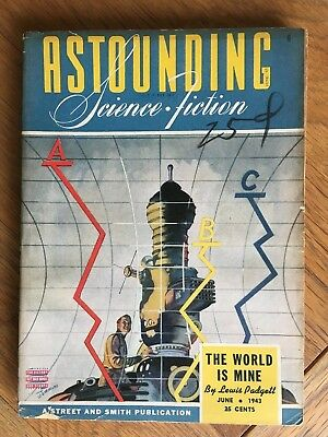 Astounding Science-Fiction - Jun.1943 vintage US pulp magazine - Lewis Padgett