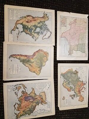 lot of 13 different map prints