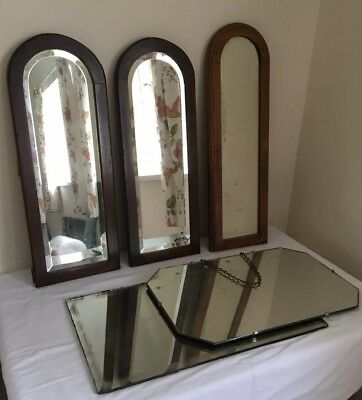 Lot of Vintage Antique mirrors - dressing table mirrors etc