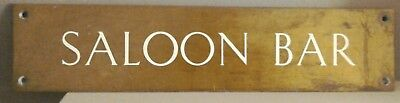 Rare Find Very Large Original Antique Solid Brass Sign Saloon Bar C1900