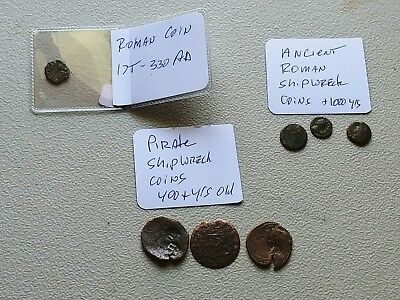 Anicent Roman And Priate Era Shipwreck Coins Over 1000 Years
