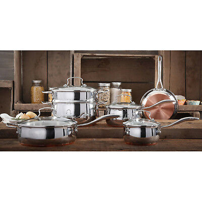 The Pioneer Woman Copper Charm 10 Pc Stainless Steel Copper Bottom Cookware Set