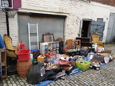 Job Lot - Antique Chairs Wood Knobs Vintage Cases Furniture Tools Shoes Lights -
