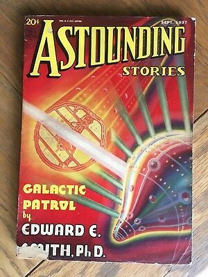 Astounding Stories - Sep.1937 vintage US pulp magazine - E. E. Smith classic SF