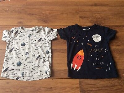 Next Baby Boys💙 18-24 Months 1.5-2 Years T Shirt Top Bundle Space Rocket Themes