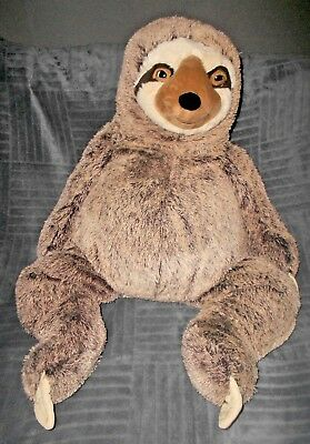 Hugfun Giant Sloth Plush Stuffed Animal Brown Realistic Large 36