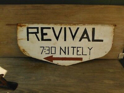 Vintage Double-Painted Metal Sign