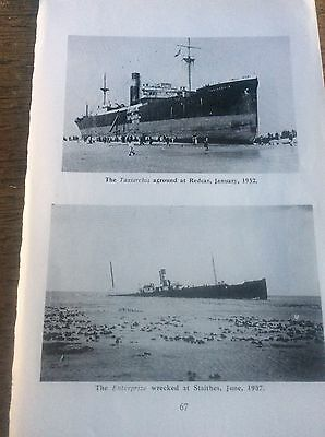 Photographic Prints Yorkshire Shipwrecks Taxiarchis Redcar Enterprize Staithes