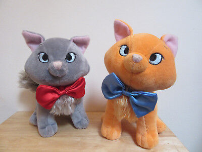 Aristocats Disney Store Exclusive Rare Toulouse & Berlioz Plush Soft Toys x2 Cat
