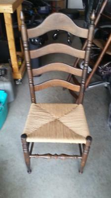 Antique Ladder back Chair new Rush  Free shipping