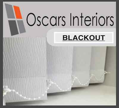 """Quality Plain Blackout Made 2 Measure Replacement Vertical Blind Slat 89mm/3.5"""""""
