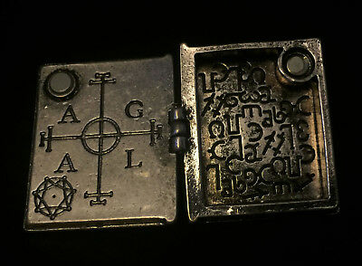 Occult Sigil Ring Large Hidden compartment chamber hollow Locket Box Book