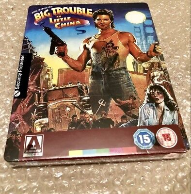 BIG TROUBLE IN LITTLE CHINA new Blu-ray STEELBOOK RARE OOP UK