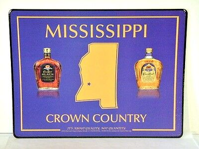 Crown Royal Bar Mat Place/Change Mat Mississippi Crown Country New Old Stock NOS