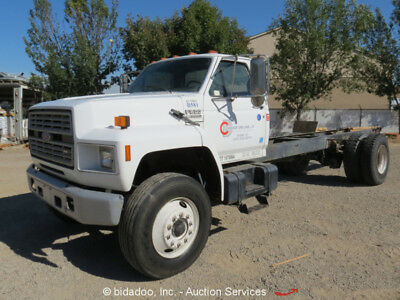 Ford F800 Cab & Chassis Utility Truck Diesel 7.8L L6 Automatic 33K GVWR - Repair