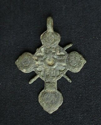 Post-Medieval Colonial Period Spanish Cross Pendant,  C. 1650 - 1750, Low Silver