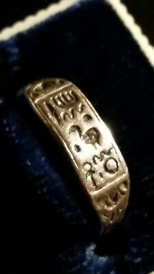 Antique/Vintage Sterling Silver Handcrafted  Ancient Egyptian Hieroglyphics Ring