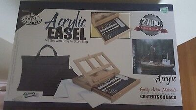 New Royal & Langnickel Acrylic Easel Art Set with Easy to Store Bag